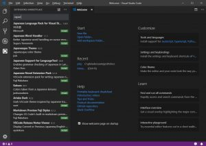 Visual Studio Code Ext Install-Japanese Language Pack-