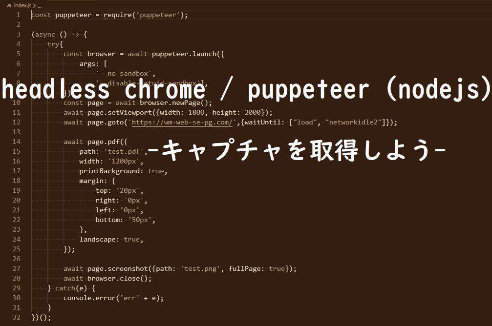 headless chrome / puppeteer(nodejs)-キャプチャを取得しよう-の画像
