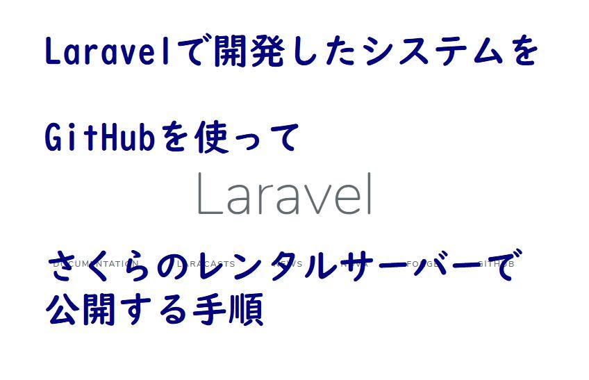 Laravelで開発したシステムをGitHubを使ってさくらのレンタルサーバーで公開する手順の画像